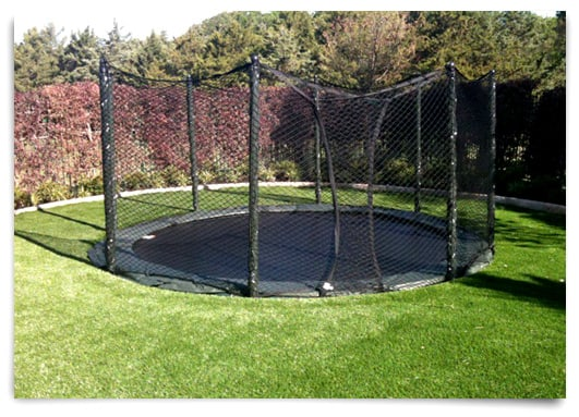 in ground trampoline cost the image kid has it. Black Bedroom Furniture Sets. Home Design Ideas