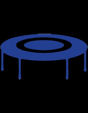 Silouette of Round JumpSport® backyard trampoline